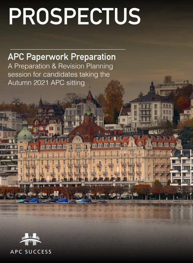 Apc Success Paperwork Prep Course Prospectus