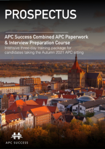 APC SUCCESS Autumn 2021 3 Day Combination Prospectus