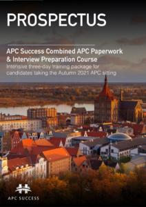 APC SUCCESS Autumn 2021 3 Day Combination Prospectus